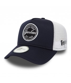 Casquette à Filet New Era New York Yankees Emblem Trucker Bleu Marine