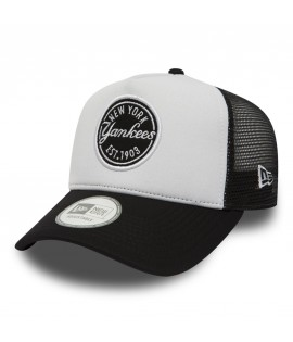 Casquette à Filet New Era New York Yankees Emblem Trucker Noir Blanc