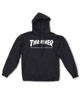 Sweat Capuche Thrasher Skateboard Magazine Logo Noir