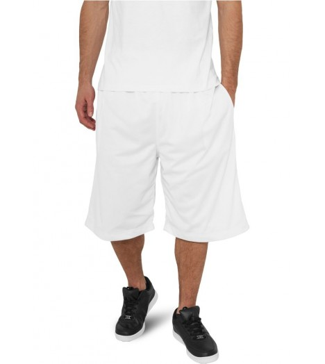Short à poches Basket-Ball URBAN CLASSICS Blanc en mesh