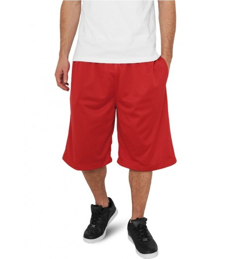 Short à poches Basket-Ball URBAN CLASSICS Rouge en mesh