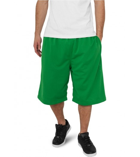 Short à poches Basket-Ball URBAN CLASSICS Vert en mesh