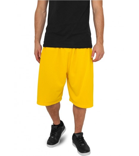 Short Basket-Ball URBAN CLASSICS Jaune en mesh