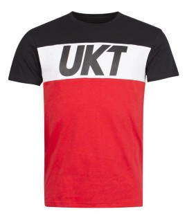 T-shirt Unkut Work Noir Rouge