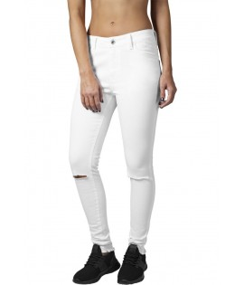 Pantalon à Cut Urban Classics Stretch Blanc