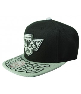 MITCHELL & NESS Snapback KINGS Los Angeles Noir/ Gris Visor Hit