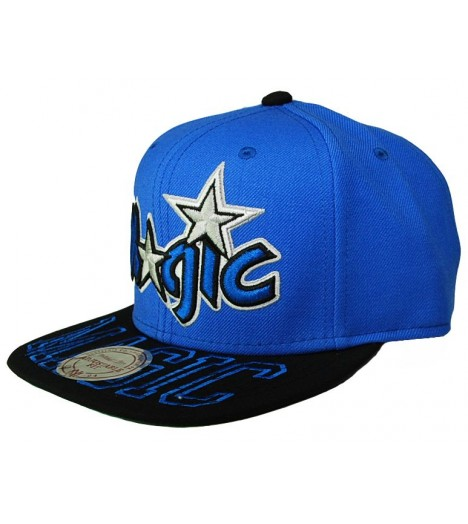 MITCHELL & NESS Snapback MAGIC Orlando Noir/ Gris Visor Hit