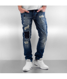Jean 2Y Patchwork Slim Fit Bleu
