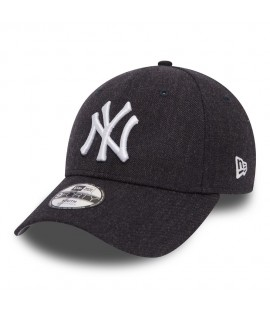 Casquette Adolescent New Era 940 New York Yankees 9Forty Heather Team Youth Bleu Marine
