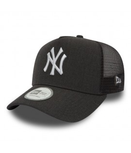 Casquette Trucker New Era New York Yankees Heather Truck Gris Charbon Chiné