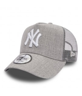 Casquette Trucker New Era New York Yankees Heather Truck Gris Clair Chiné
