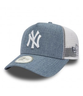 Casquette Trucker New Era New York Yankees Heather Truck Bleu Denim Chiné