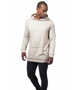 Sweat Capuche Oversize Urban Classics Beige Coutures Visibles