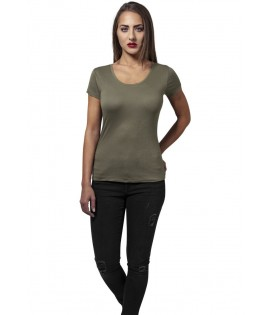 T-shirt Urban Classics Olive Basic Viscose