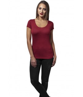 T-shirt Urban Classics Bordeaux Basic Viscose