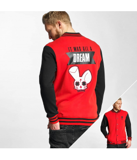 Veste Who Shot Ya? Dream College Jacket Noir Rouge