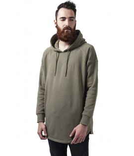 Sweat Long Shaped Hoody Olive