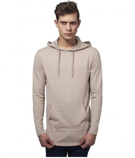 T-shirt Capuche Long Urban Classics Beige Manches Longues