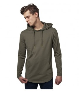 T-shirt Capuche Long Urban Classics Olive Manches Longues