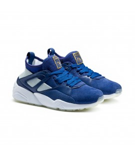 Baskets Puma x Carreaux Blaze Of Glory Sock Bleu Fpncé