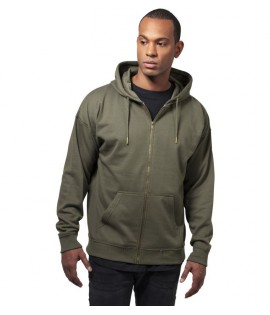 Sweat Zippé Oversize Urban Classics Olive Ample