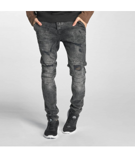 Jean Just Rhyse Destroyed Straight Fit Jeans Grey