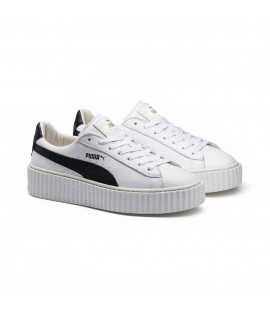 Chaussures Puma x Fenty Rihanna Creepers Leather Blanc Noir