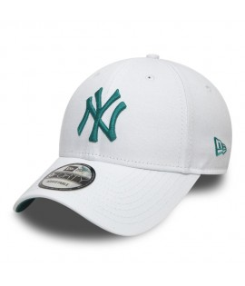 Casquette Incurvée New Era New York Yankees League Essential 9Forty Blanc Vert