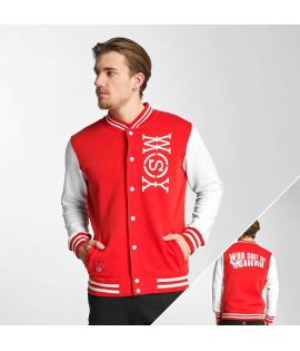 Veste Teddy Who Shot Ya? Alpha College Jacket Blanc Rouge