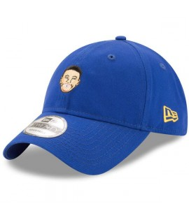 Casquette Incurvée New Era Golden States Warriors NBA Primary Head Stephen Curry 9Twenty Bleu Roi
