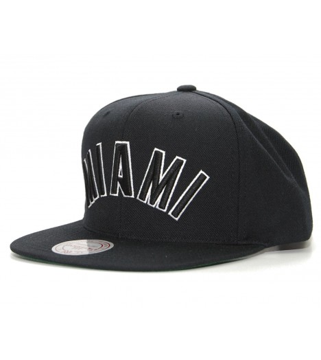 MITCHELL & NESS Snapback MIAMI Heat Noir NBA