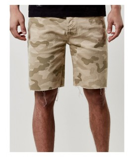 Short Denim Cayler & Sons Black Label Raw Edge Denim Beige Camouflage