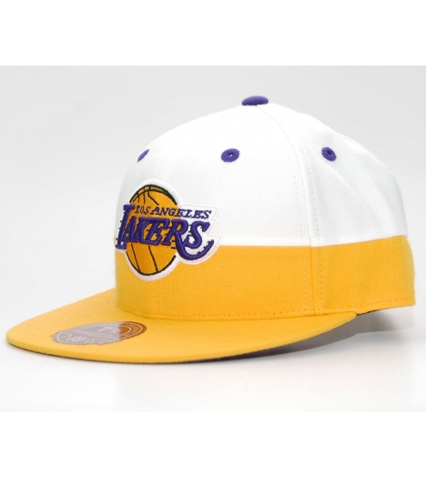 EXCLU! MITCHELL & NESS LAKERS Los Angeles Blanc / Jaune White CrownEXCLU! MITCHELL & NESS LAKERS Los Angeles Couleurs scindés Ja