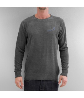 Sweatshirt Clang Oilwashed Knitted Gris foncé