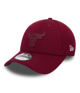 Casquette Incurvée New Era Chicago Bulls Rubber Logo Mesh 9Forty Bordeaux