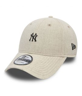 Casquette Incurvée New Era New York Yankees Linen Small Logo 9Forty Beige