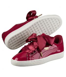 Chaussures Puma Basket Patent Heart Tibetian Rouge Do You