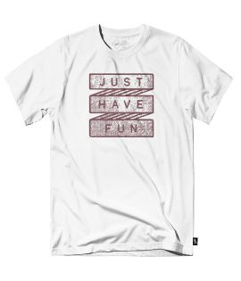 T-shirt Just Have Fun Scroll Call Tee Blanc