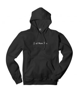 Sweat Capuche Just Have Fun Family Embroidered Hoody Noir