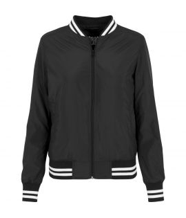 Blouson Teddy URBAN CLASSICS Ladies Noir Nylon College