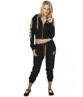 Bas de jogging 3/4 URBAN DANCE Noir / Or Pantalon 3/4 Danse