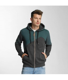 Sweatshirt Zip Capuche Just Rhyse Palo Verde Zip Anthracite/Vert