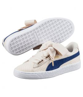 Chaussures Puma Basket Heart Denim Oatmeal Do You