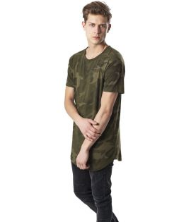 T-shirt Oversize Long Urban Classics Olive Camouflage Shaped