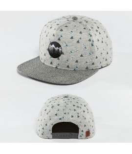 Casquette Snapback Just Rhyse Happy Trees Gris/Blanc
