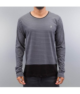 T-shirt manches longues Cazzy Clang *B-Ware* Stripes II Gris