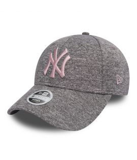 Casquette Incurvée Femme New Era New York Yankees Tech Jersey 9Forty Gris Rose