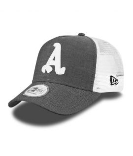Casquette Trucker New Era Atlanta Braves Chambray Trucker Gris