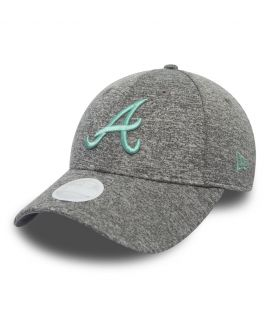 Casquette Incurvée Femme New Era Atlanta Braves Tech Jersey 9Forty Gris