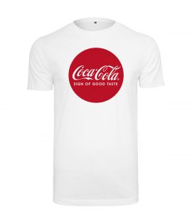 T-shirt Mister Tee Coca Cola Blanc